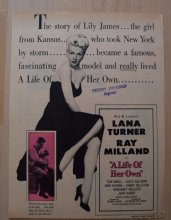 A Life of Her Own (1950) - Vintage Trade Ad